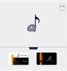 Brain music creative logo template get free vector