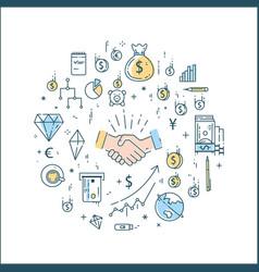 business finance money line concept vector image