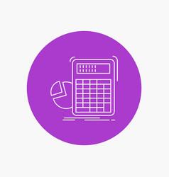 Calculator calculation math progress graph white vector
