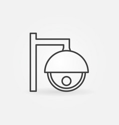 cctv camera line icon video monitoring symbol vector image