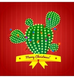 Christmas cactus tree vector