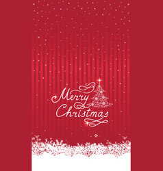 christmas snowfall background with handwritten vector image
