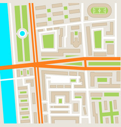 city street road map urban place landmark town vector image