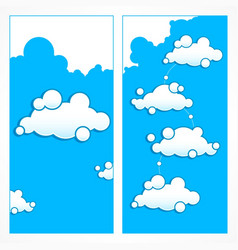 clouds infographic vector image