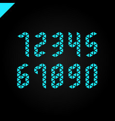 collection isometric sport numbers set vector image