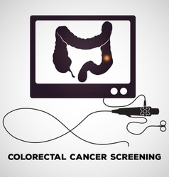 Colonoscopy procedure used for screening colon dis vector