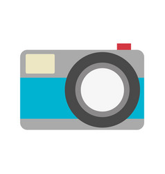 Color silhouette with photo camera in closeup vector