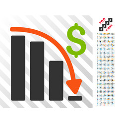 Default crisis fail flat icon with bonus vector