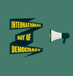 design international day democracy vector image