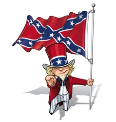 Dixie Sam I Want You Stars and Bars vector