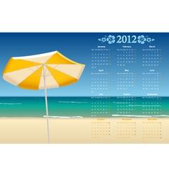 european calendar 2012 vector image
