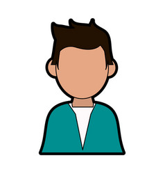 Faceless man avatar wearing shirt icon imag vector