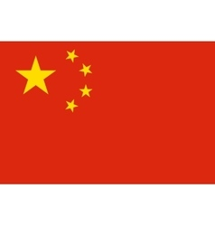 Flag of China in correct proportions and colors vector