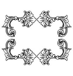 Floral label frame 3 vector