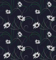 flower seamless dark blue background vector image