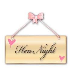Hen night vector