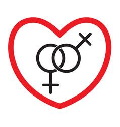 homosexual love icon vector image