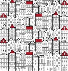 House amsterdam pattern vector