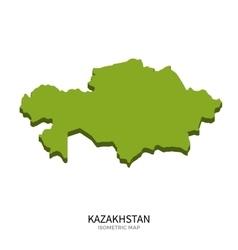Isometric map of Kazakhstan detailed vector