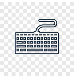 Keyboard concept linear icon isolated on vector