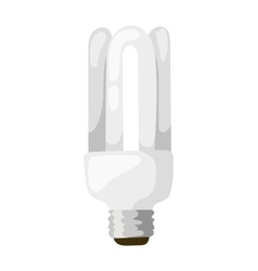 LED lamp isolated vector image