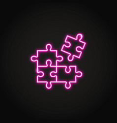 Logical thinking concept neon icon in line style vector