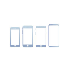 mobile devices front view vector image
