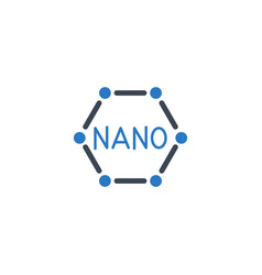 nanotechnology related glyph icon vector image