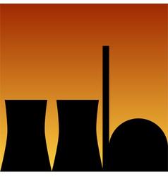 Nuclear power station vector
