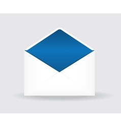Open postal envelope vector