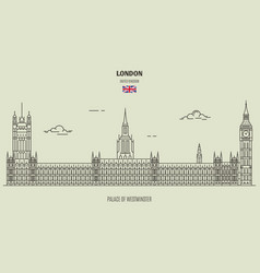 palace of westminster in london vector image