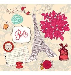 Paris postcard vector image