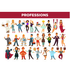 Professions and occupation specialists vector