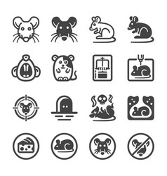rat icon set vector image