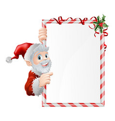 santa cartoon xmas sign vector image
