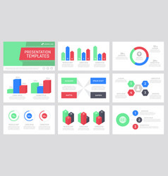 Set green blue dark grey and red elements for vector