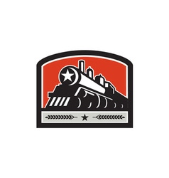 Steam Train Locomotive Star Crest Retro vector image