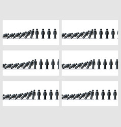 Stick figures animation sprite isolated on white vector