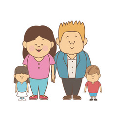 stock of a family portrait of vector image