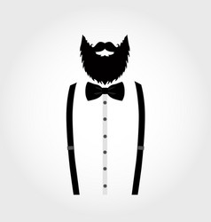 Suit icon isolated on white background gentleman vector