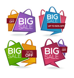 super sale shopping bags collection of bright vector image