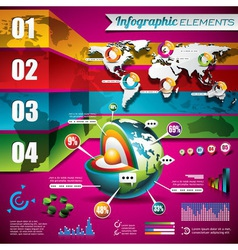 technology design set infographic elements vector image
