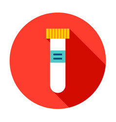 test tube circle icon vector image