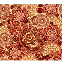 Traditional paisley pattern silk headscarf sample vector