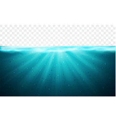 transparent underwater blue ocean background vector image