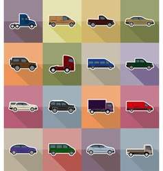 transport flat icons 18 vector image