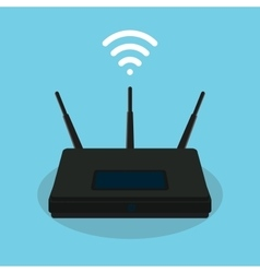wifi singla router isolated object vector image