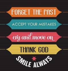 with phrase Smile alwaysl vector image