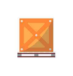 big delivery box on pallet icon vector image vector image