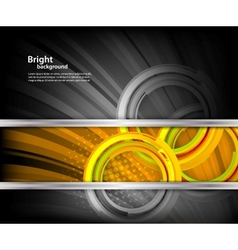 Bright background with circles vector image